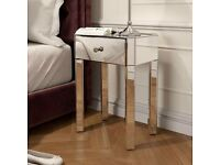 2 Brand NEW mirrored bedside table