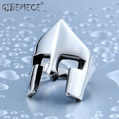 One Piece Sale New Cool Rings For Men Stainless Steel Spartacus Mask Movie Ring - Cool Masks For Sale