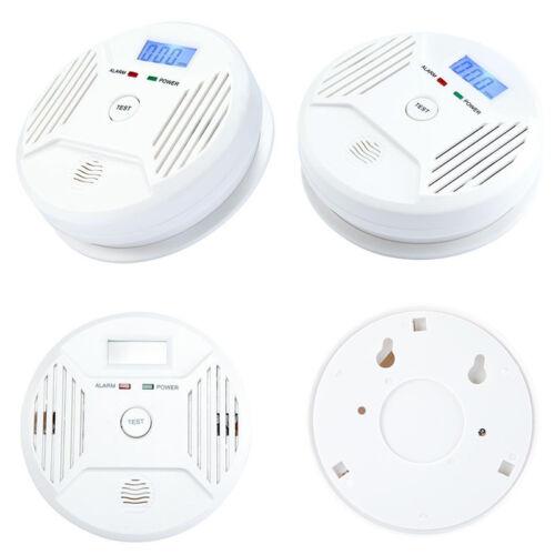 2X LCD CO Carbon-Monoxide Detector Poisoning Warning Sensor Monitor//Smoke Alarm