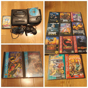Sega Genesis and Sega CD console and games