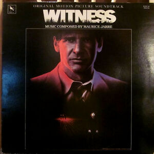 WITNESS OST Vinyl Album 1985 MAURICE JARRE / HARRISON FORD