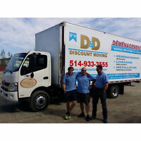 SPECIAL!! TRUCK + 2 MOVERS - $70/HR (514) 933-3555