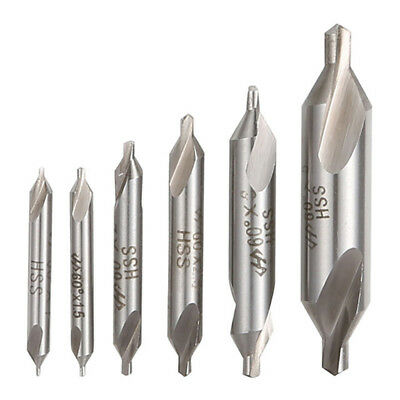 1-5mm High Speed Steel Center Drill Bits Set Combined Countersinks Kit 60 6pcs