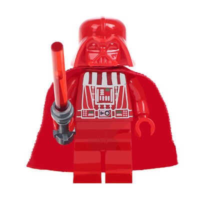 Star Wars Blood Red Darth Vader Lego Moc Minifigure, Brand New & Sealed