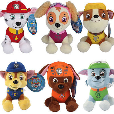 6pcs Paw Patrol Figures Pup Dog Soft Plush Doll Set Kids Baby Boy Girl Toy Gift