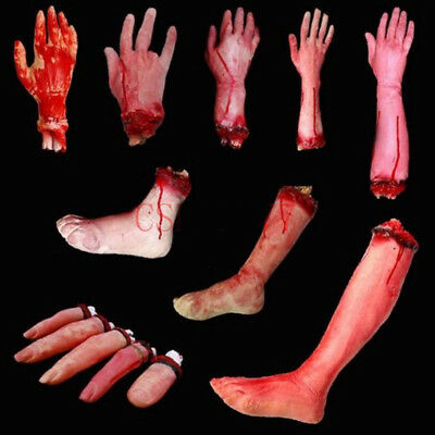 Halloween Bloody Hand Haunted House Horror Props Party Club Scary Decoration NEW - Club Decorations