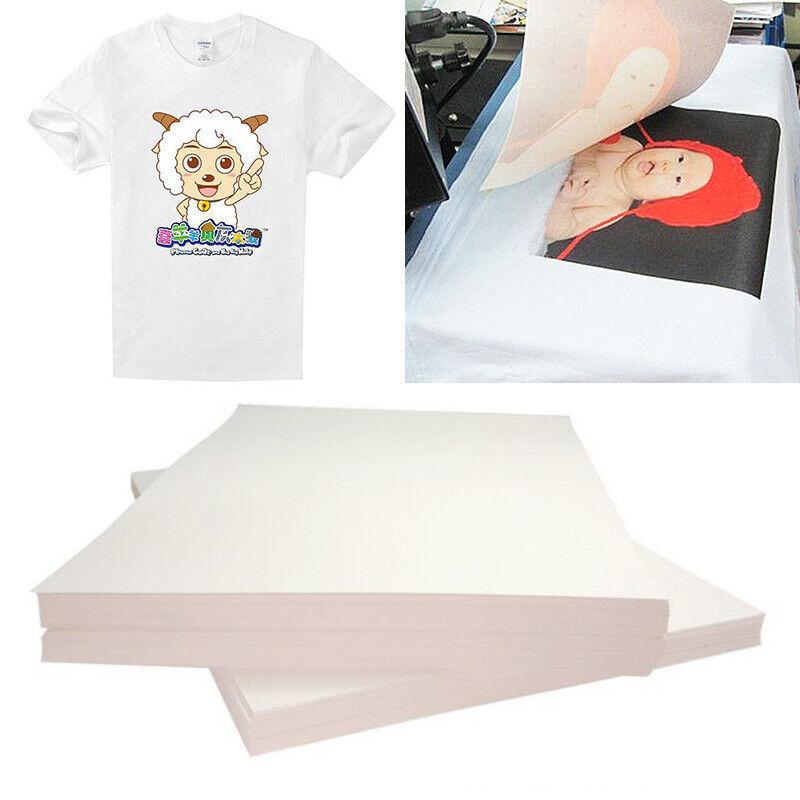 20Pcs A4 On T-shirt Light Fabric A4 Inkjet Printer Heat Tran