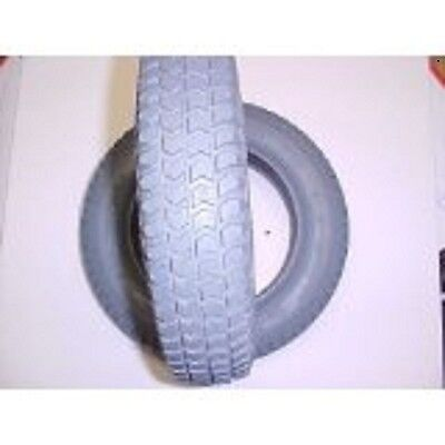 """2 Invacare wheelchair tires 14x3"""" (300-8), solid knobby gray flat free new"""
