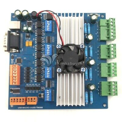 Mach3 Usb 4 Axis Tb6560 Stepper Motor Driver Board With Mpg Usbusb Cablecd New