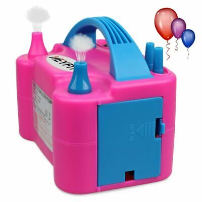 Portable Dual Nozzle Electric Balloon Blower Pump Air Inflator-Party 110v - 600w](Party Balloon Pump)
