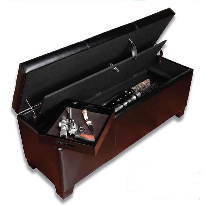 Storage Bench Gun Concealment Furniture Safe Ottoman