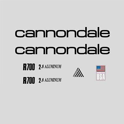 Radsport Fahrradzubehör 01028 Cannondale R700 Fahrrad Aufkleber Silver