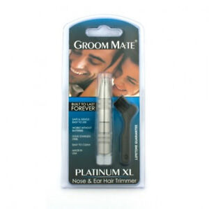 GROOM MATE PLATINUM XL NOSE AND EAR HAIR TRIMMER SHAVING STYLE