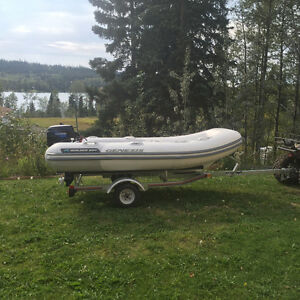 Walker Bay Inflatable Rigid Transom Boat