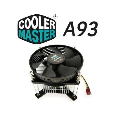 DISSIPATORE 775 VENTOLA RAFFREDDAMENTO COOLER MASTER PROCESSORE CPU LGA 775-