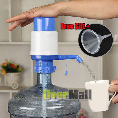 5-6 Gallon Bottled Drinking Water Manual Hand Press Pump Dispenser Home Office