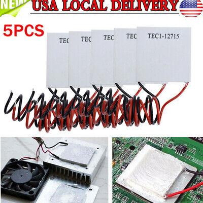 5x Tec1-12715 Heatsink Thermoelectric Cooler Cooling Peltier Module 15a 225w