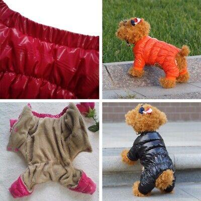 Winter Small Pet Dog Cat Coat Jacket Warm Apparel Clothes Jumpsuit Puppy Costume - Cat Jumpsuit Costume