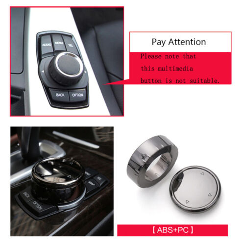 Car Big Multi Media Knob Cover Trim Black iDrive For BMW F10 F20 F30 F32 F33 #K