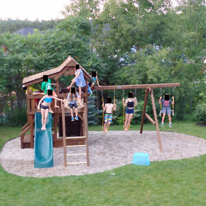 Outdoor Playset with Slide & Swings