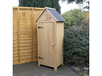 Wooden Sentry Style Garden Patio Shed + FREE Local Delivery