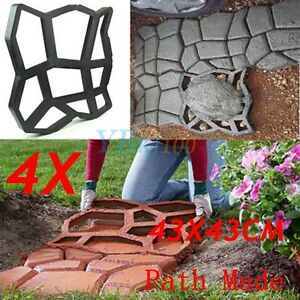 4x PATH MATE MAKER CONCRETE MOULD PAVER PATIO GARDEN BRICK SLAB PAVEMENT CEMENT