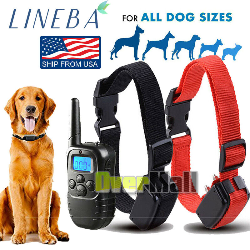 1000 Yards Pet Dog Shock Training Collar Remote Waterproof Electric For 1/2 Dog