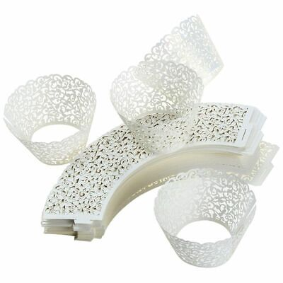 Lace Cupcake Liners (100PCS Cupcake Liners Weddings Lace Cupcake Wrappers Birthdays Party Decor)