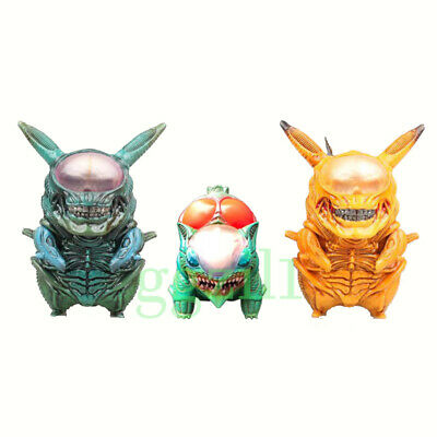 Pokemon Go Pikachu Bulbasaur Cosplay Alien PVC Figure Collection Toys No - Alien Pvc Figure
