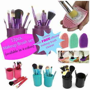12 pcs. Makeup brush with cylinder case with FREE item