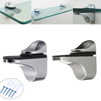 Adjustable Metal Wall Mount Floating Bracket Holder Support Glass Wood Shelves