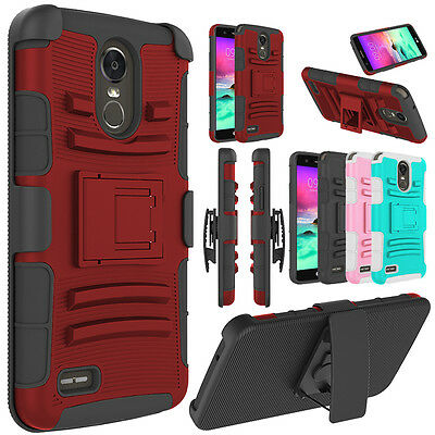 Kickstand Case - For LG Stylo 4/Stylo 3 Plus Case Hybrid Belt Clip Holster Kickstand Phone Cover