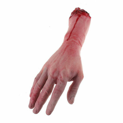 Halloween Realistic Hands Terror Bloody Fake Body Parts Severed Arm Hand US - Halloween Bloody