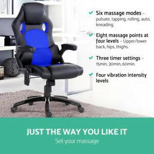 NEW 8 POINT MASSAGE CHAIR OFFICE CHAIR HIGH BACK CHAIR