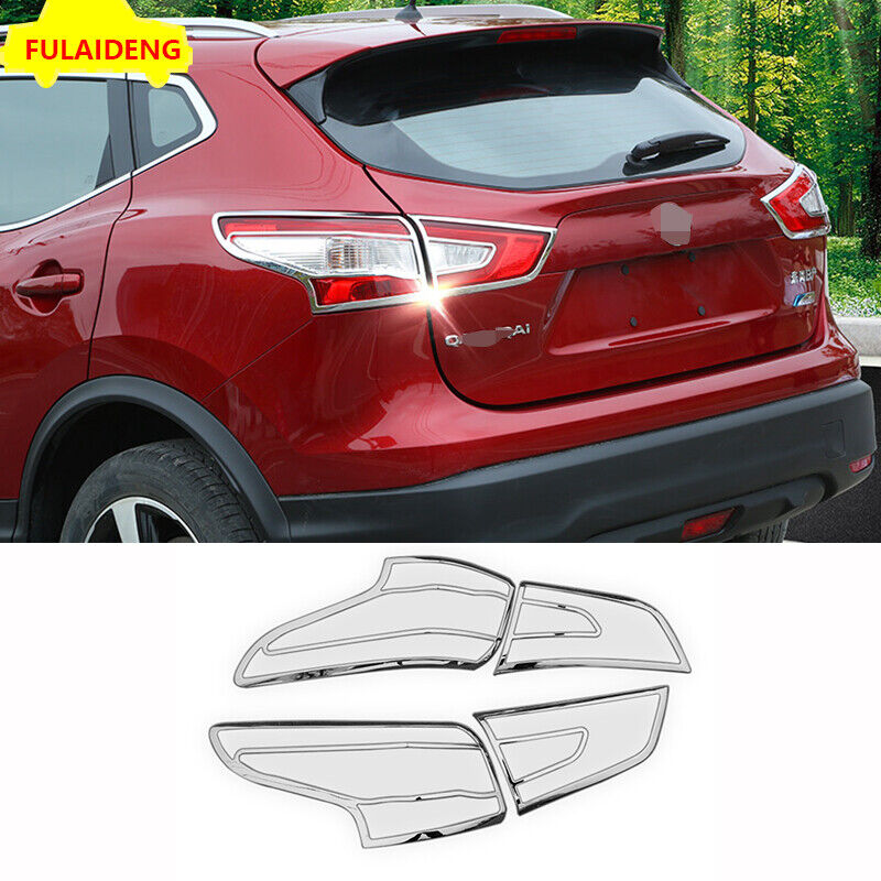ABS Chrome Rear Fog Lamp Light Cover Trim Protectors for Nissan Qashqai J11 2018