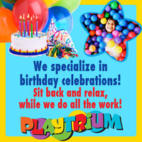 Come to the Playtrium for your next Birthday Party