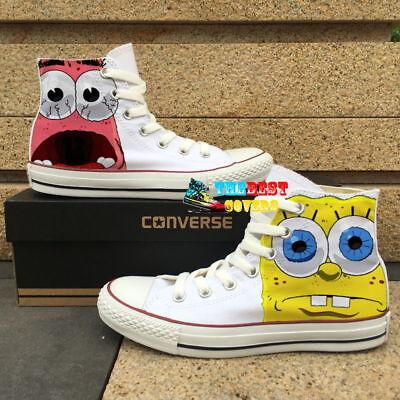 CONVERSE All Star SPONGEBOB cartoon movie hand painted shoes zapatos](Cartoon Converse Shoes)