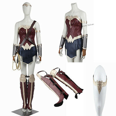 Hot Original Justice League Wonder Woman Women's Cosplay Costume Hallowmas