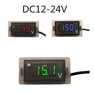 Waterproof Dc 12v 24v Digital Led Panel Voltage Meter Display For Motorcycle