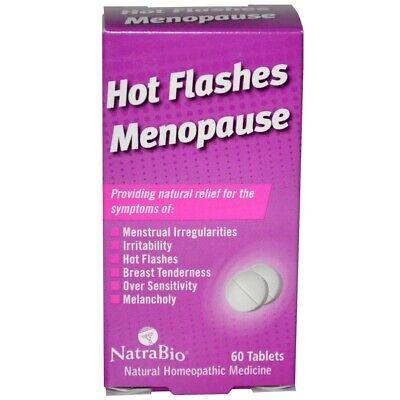 - NatraBio, Hot Flashes Menopause, 60 Tablets