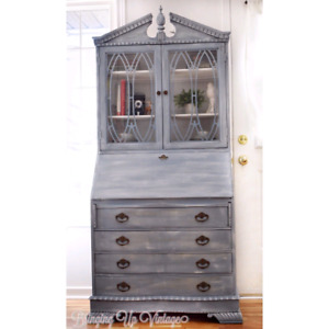 Jean Blue Antique Secretary Desk. Amazing piece for any home!