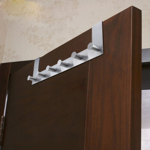 6 hooks stainless steel over door towel coat rack clothes for 12 hook over the door coat rack