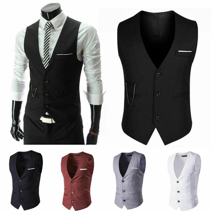 Mens Peaky Blinders Waistcoat Check Herringbone Double Breasted Slim Fit Outwear Clothing, Shoes & Accessories