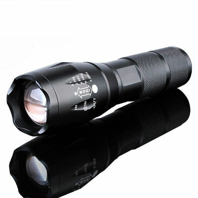 10000 Lumens XM-L T6 Zoomable Tactical LED Flashlight Torch Lamp Light 5 Modes