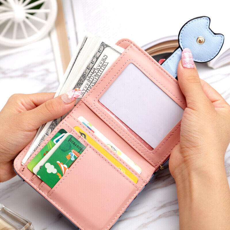 US RFID Blocking Small Compact Wallet Credit Card Holder Mini Handbag for Women Clothing, Shoes & Accessories