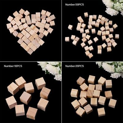 10/25/25mm DIY Wooden Square Blocks Mini Cubes Embellishment for Woodwork Craft - Diy Wooden Blocks