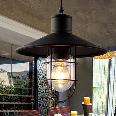 Industrial Retro Loft Ceiling Lamp Metal Chandelier Pendent Hanging Light Cafe