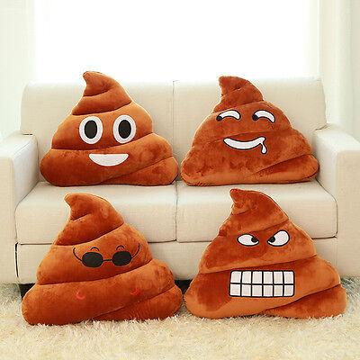 2015 Mini Amusing Emoji Emoticon Cushion Poo Shape Pillow Doll Toy Throw Pillow