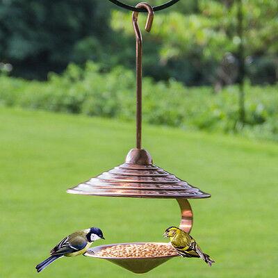 Heavy-duty Bronze Plating Metal Unique Shape 15in. High Hanging Bird Feeder Tool