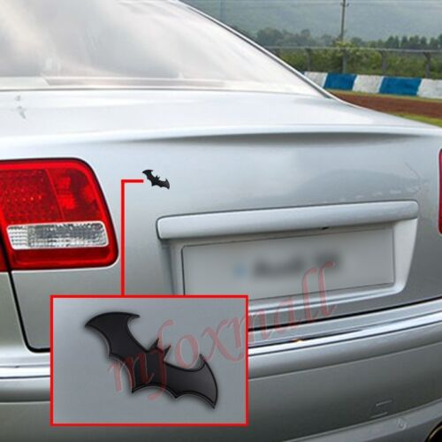 Chrome Auto Accessories Black 3D Bat Emblem Badge Logo Decal Sticker Garnish